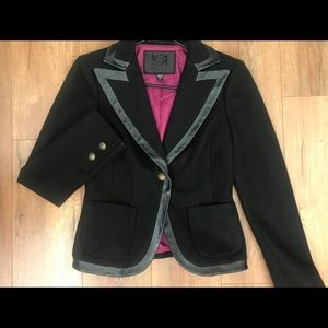 Black wool jacket/blazer. BeBe collection size 6